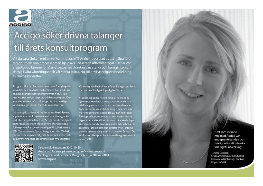 Accigo konsultprogram VT 20141