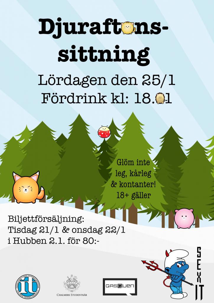 Djurafton - sittningsaffisch