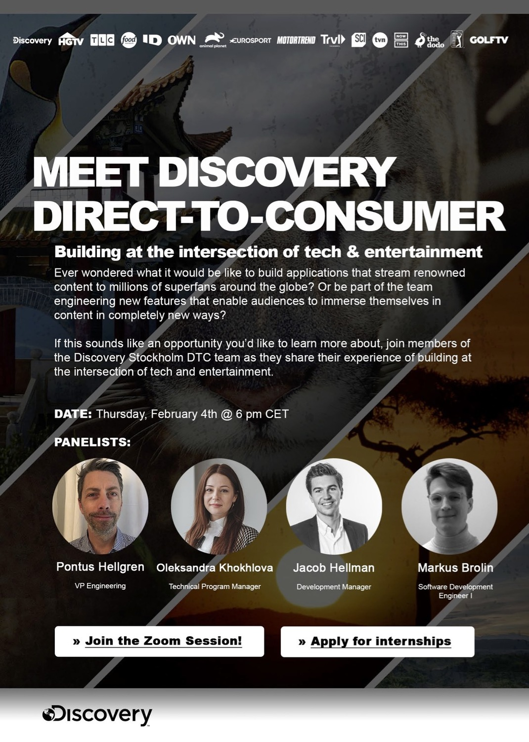 Discovery Stockholm DTC Panel